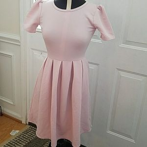 Lularoe Amelia super soft pink dress
